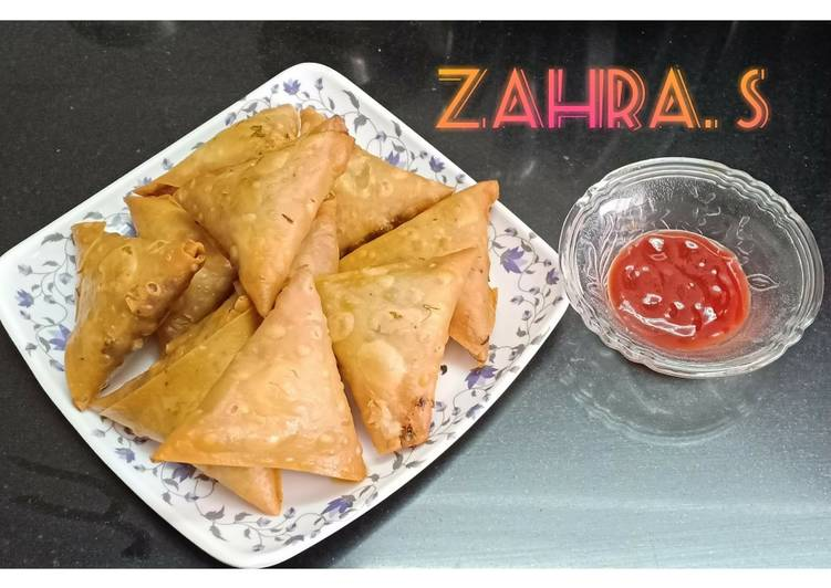 How to Cook Appetizing Patti Samosas with chicken mince filling