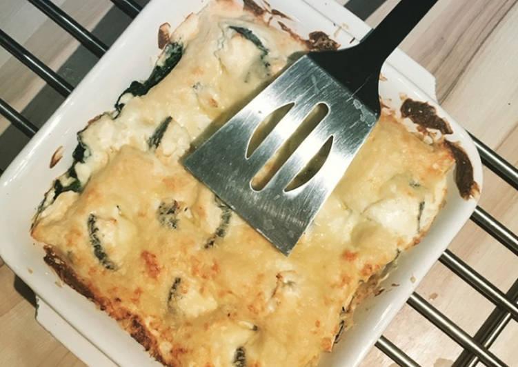 Lasagnes Chèvre-Épinards