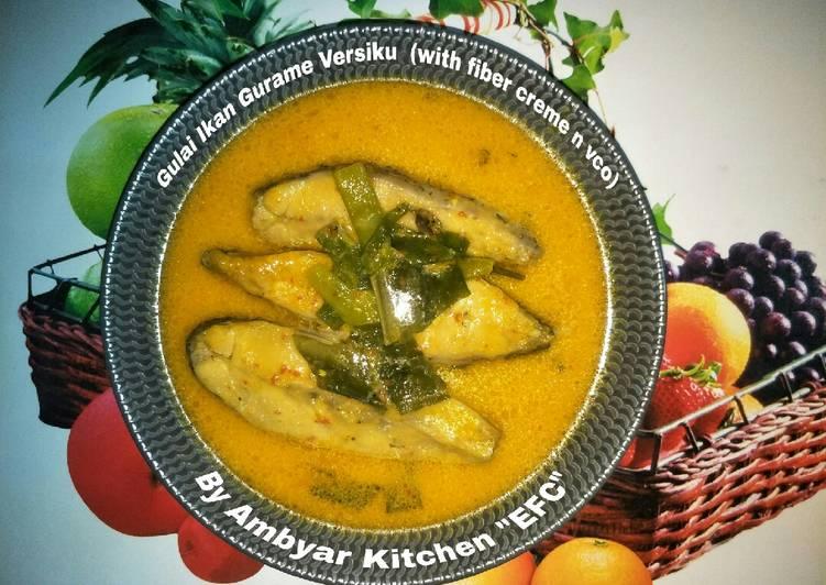 🐟Gulai Ikan Gurame Dedaunan Versiku (with fiber creme n vco)🍀