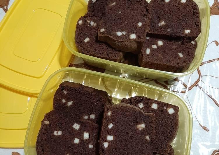 Cake Pisang Kukus Coklat Keju (No Mixer)