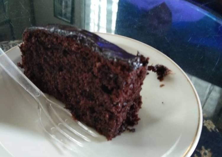 Kek coklat moist Mudah guna blender je