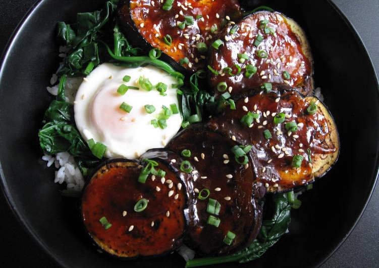 Eggplant & Egg Rice Bowl