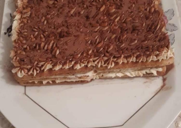 Recipe: Perfect Tiramisu sans oeuf rapide et très bonne