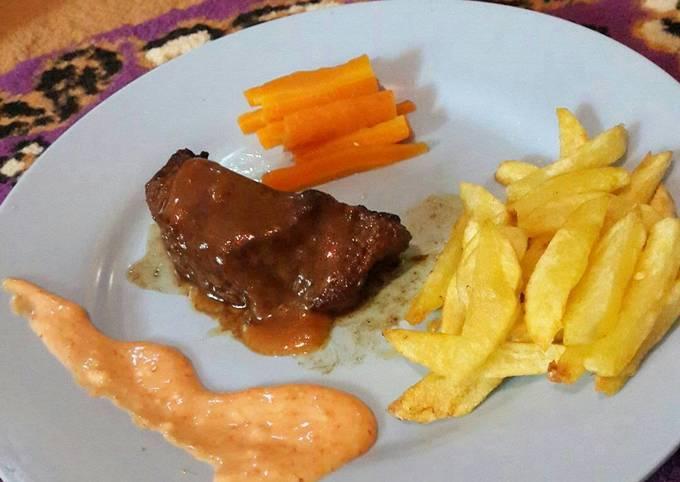 Beef steak enak 😆