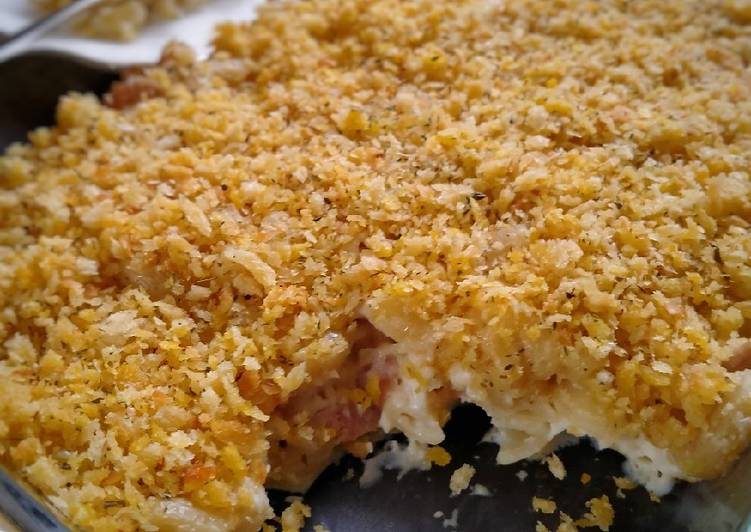 Baked Mac and Cheese topping Panko