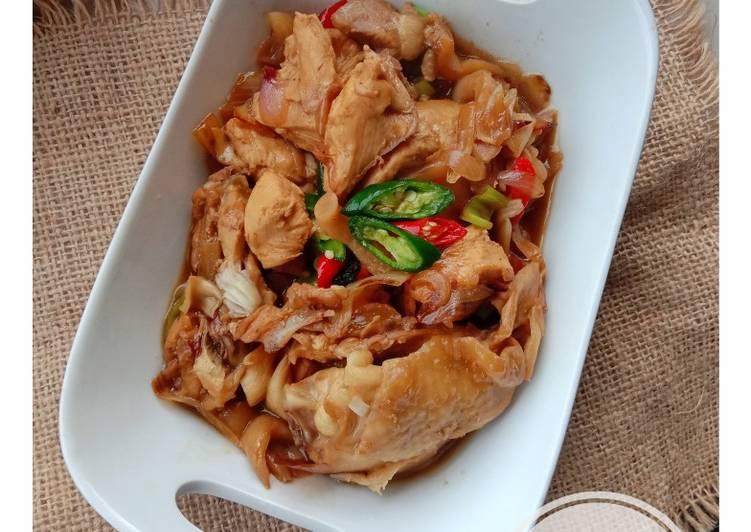 Ayam Jamur Saus Tiram