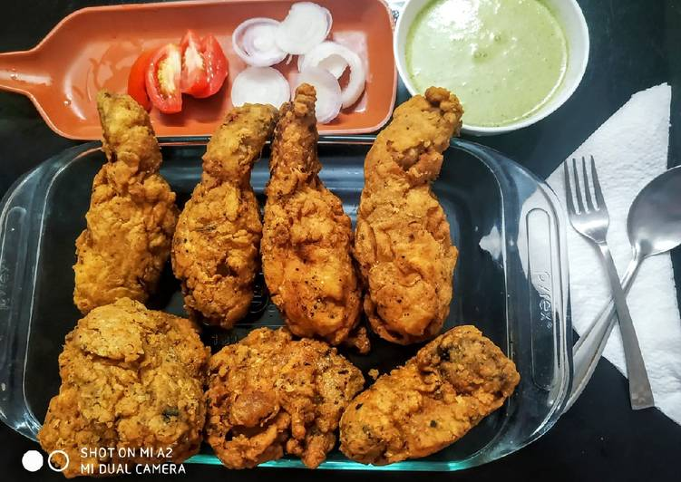 Kfc style crispy fried chicken