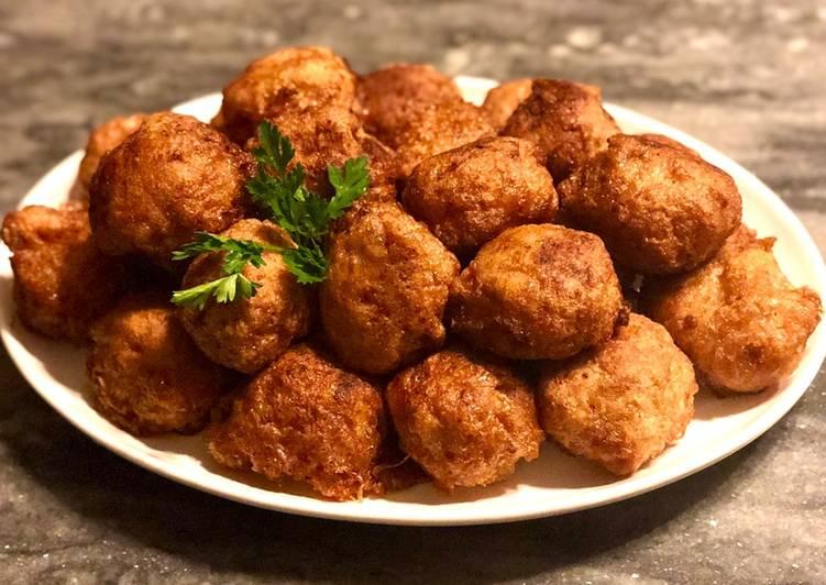 Steps to Make Homemade Chicken-parmesan balls