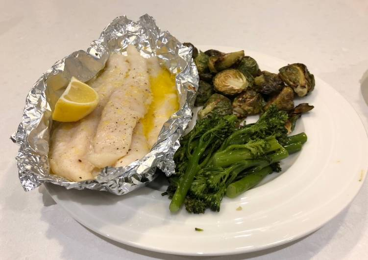 Easiest Way to Make Super Quick Homemade Keto Lemon and Butter Fish parcels
