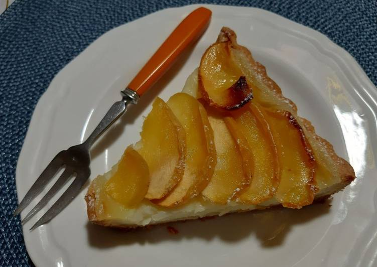 Comment Cuisiner Tarte aux pommes a la crème 🍏