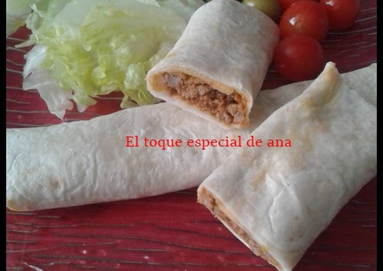 Easiest Way to Prepare Perfect Burritos de carne