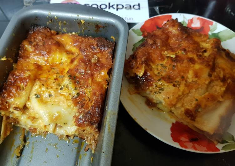 Easiest Way to Make Delicious My Other way of cooking Lasagne. With a nice Crispy Top.☺