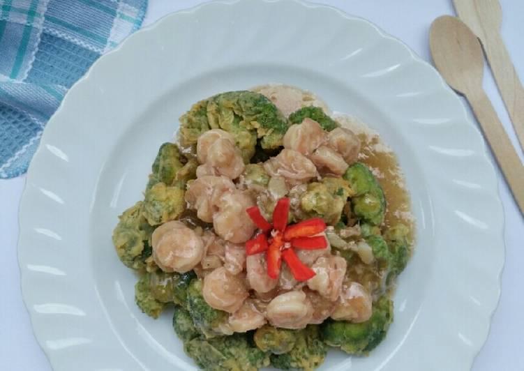 Brokoli Crispy Saus Tiram Udang