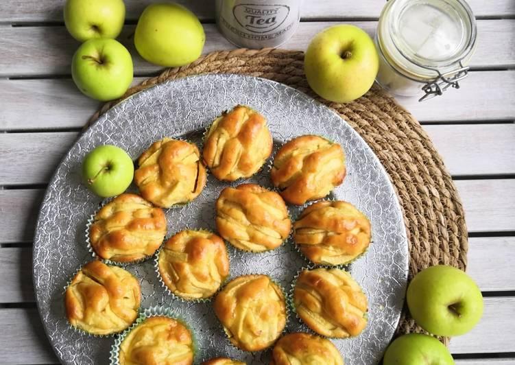 Comment Préparer Les Muffins yaourt pommes