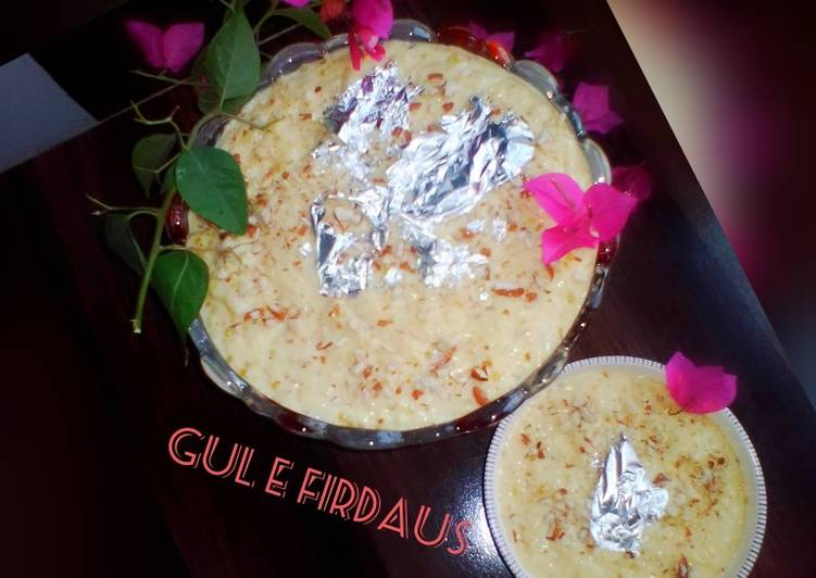Easiest Way to Prepare Quick 🌹 Gul e Firdaus 🌹