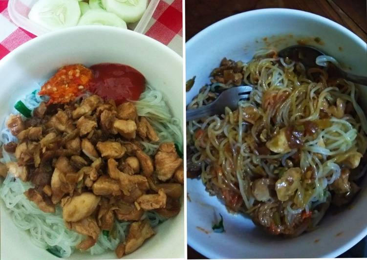 Resep Bihun Ayam Simple Rendah Kalori Favorit