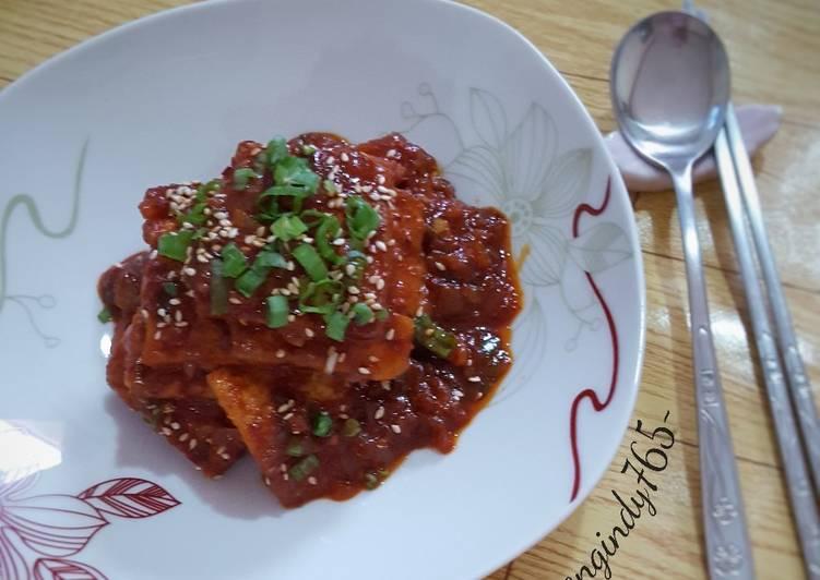 Dubu Jorim 두부 조림 (Spicy Braised Tofu)