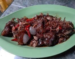 Daging jamur lada hitam (saus lada hitam bango)