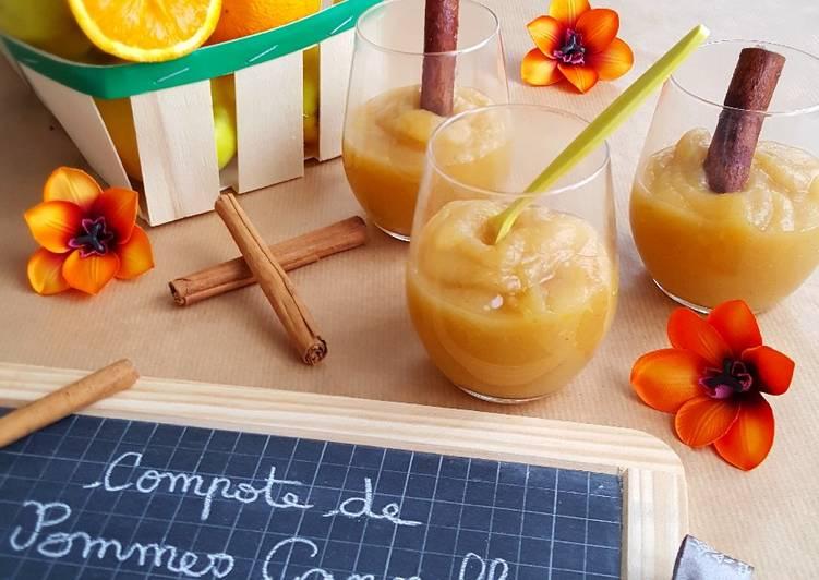 Compote de pomme cannelle et orange
