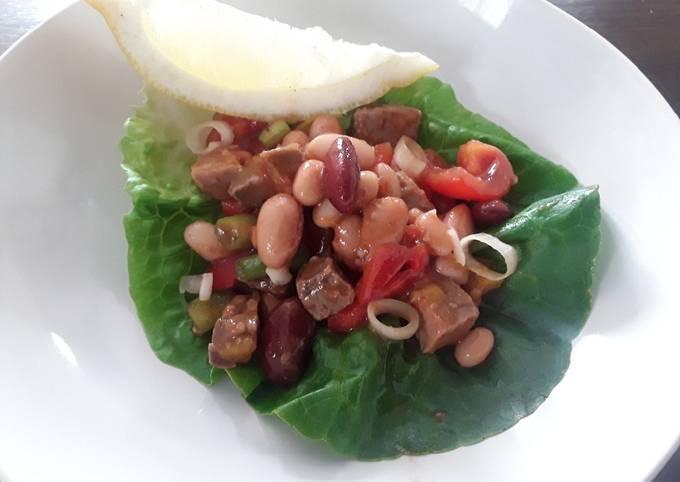 Sig's Hot Beef and Bean Salad