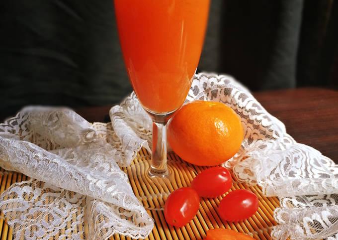 Cocktail sans alcool fruit et légume