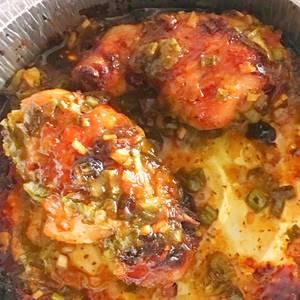 Pollo en salsa de miel y mostaza