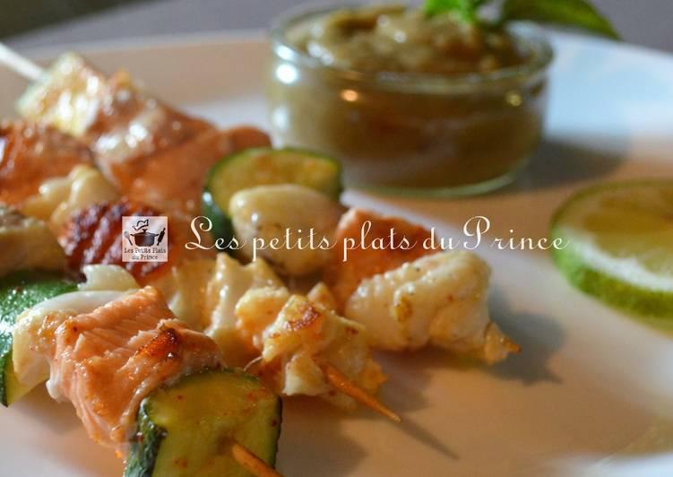 Le moyen le plus simple de Préparer Parfait Brochettes de poisson