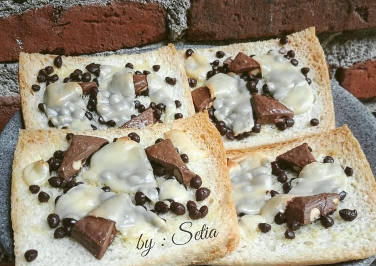 Roti Panggang Cokelat Keju Super Crispy