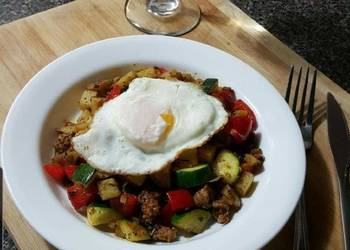 Easiest Way to Cook Tasty Breakfast Potato and Sausage Hash 4 dinner