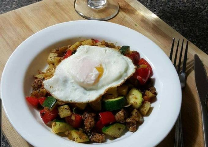 Simple Way to Prepare Super Quick Homemade Breakfast Potato and Sausage Hash (4 dinner)