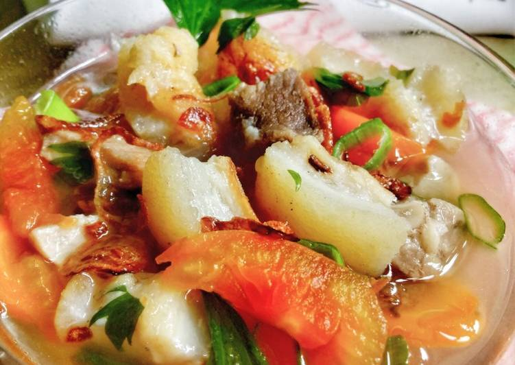 Sop Kikil Sapi / Sop Bening Khas Betawi Kikil Dan Daging Sapi - cookandrecipe.com