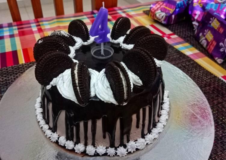 Chocolate drip truffle cake
