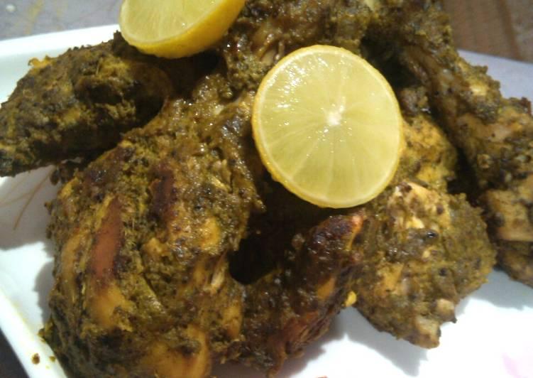 Sumptuous Hariyali Kabab for an elaborate dinner :)