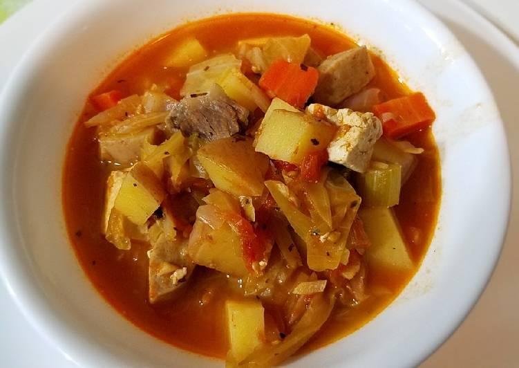 Shanghai tomato beef soup罗宋汤