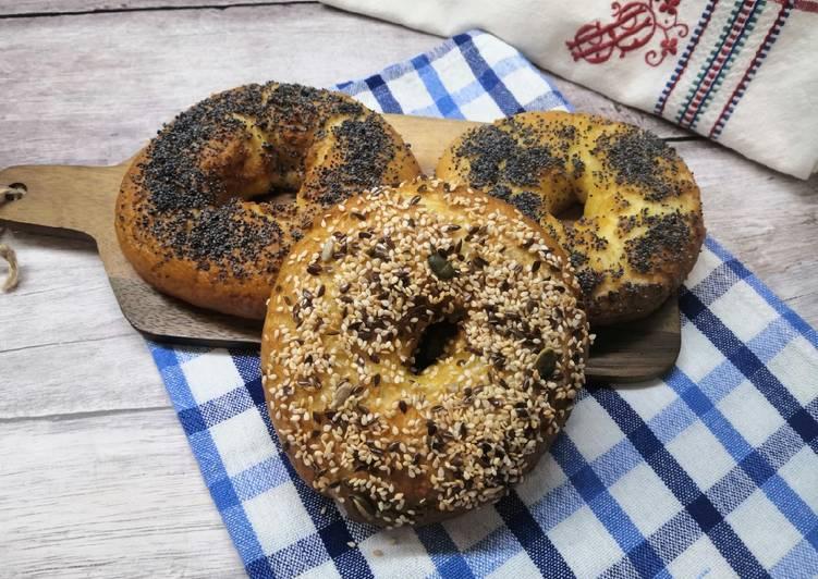 Glutén- és tejmentes bagel recept foto