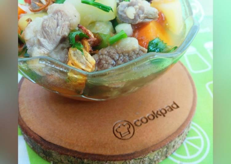 Sup daging sapi magic com empuk wangi rempah