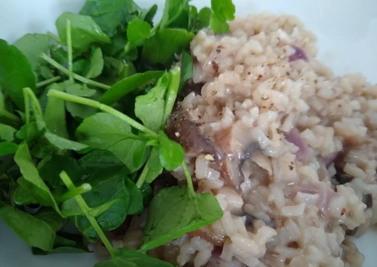 Recipe of Quick Auntie's Quick & Easy Mushroom Risotto