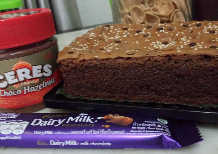 5.0#21 Cadbury chewy brownies