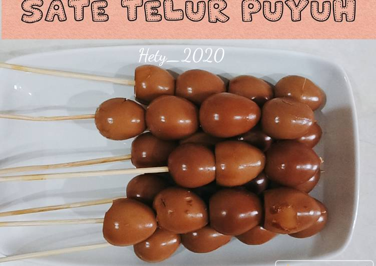 Sate Telur Puyuh