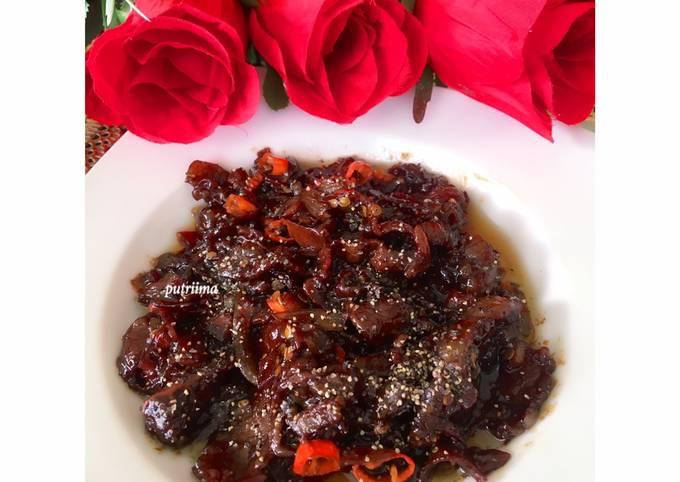 Resep Daging sapi lada hitam (1) (yoshinoya ala ala) yang Sempurna