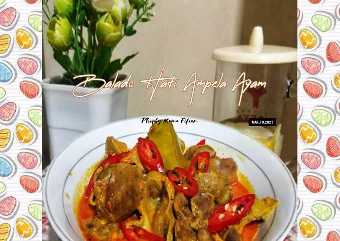 Balado Hati Ampela Ayam