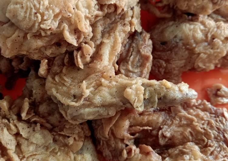 Bagaimana Menyiapkan Ayam goreng tepung ala Kfc yang Lezat Sekali