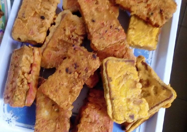 10 Minute Simple Way to Make Quick Chicken bread pakora