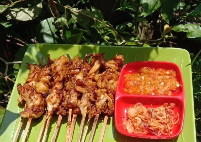 Resep Sate Jamur Tiram Bumbu Kacang Anti Gagal