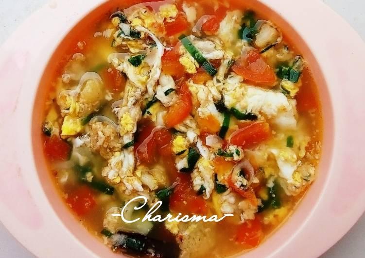 Sup Tomat Telur (menu balita 1y+)