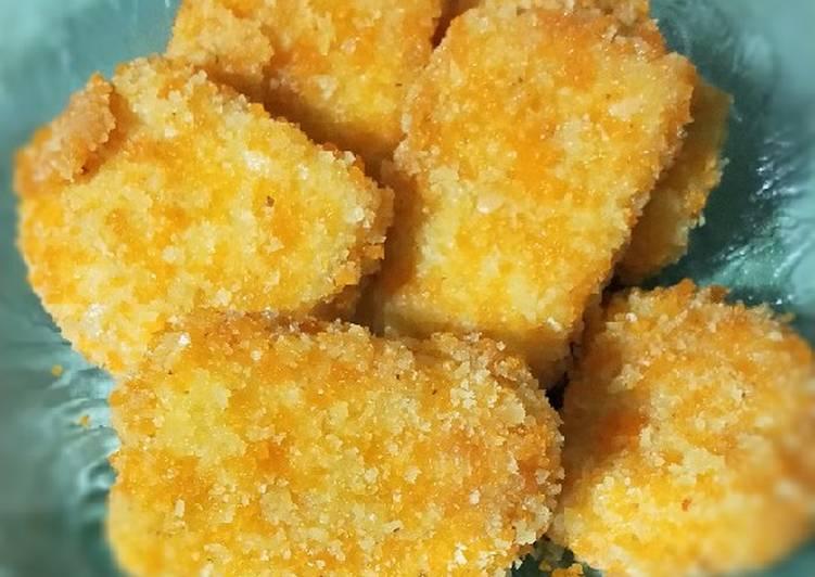 Langkah Mudah untuk Membuat Nugget ayam keju non msg Anti Gagal