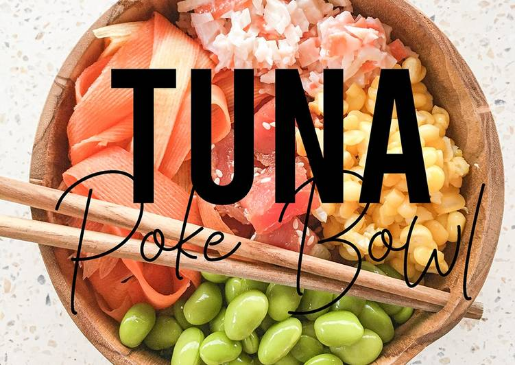 Easy HOMEMADE Teriyaki Tuna Poke Bowl
