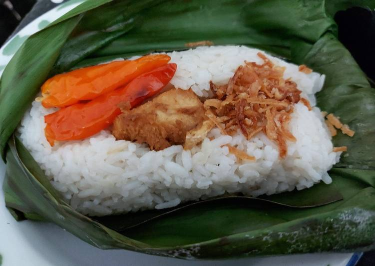 Nasi liwet bakar rice cooker