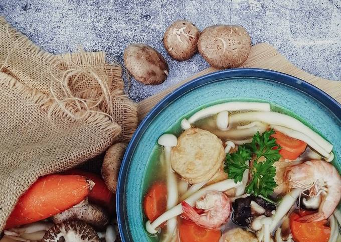 Sup Cendawan Tofu Ikan