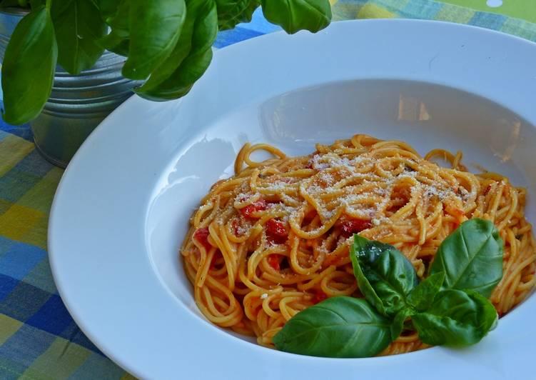 One pot pasta-alles aus einem Topf